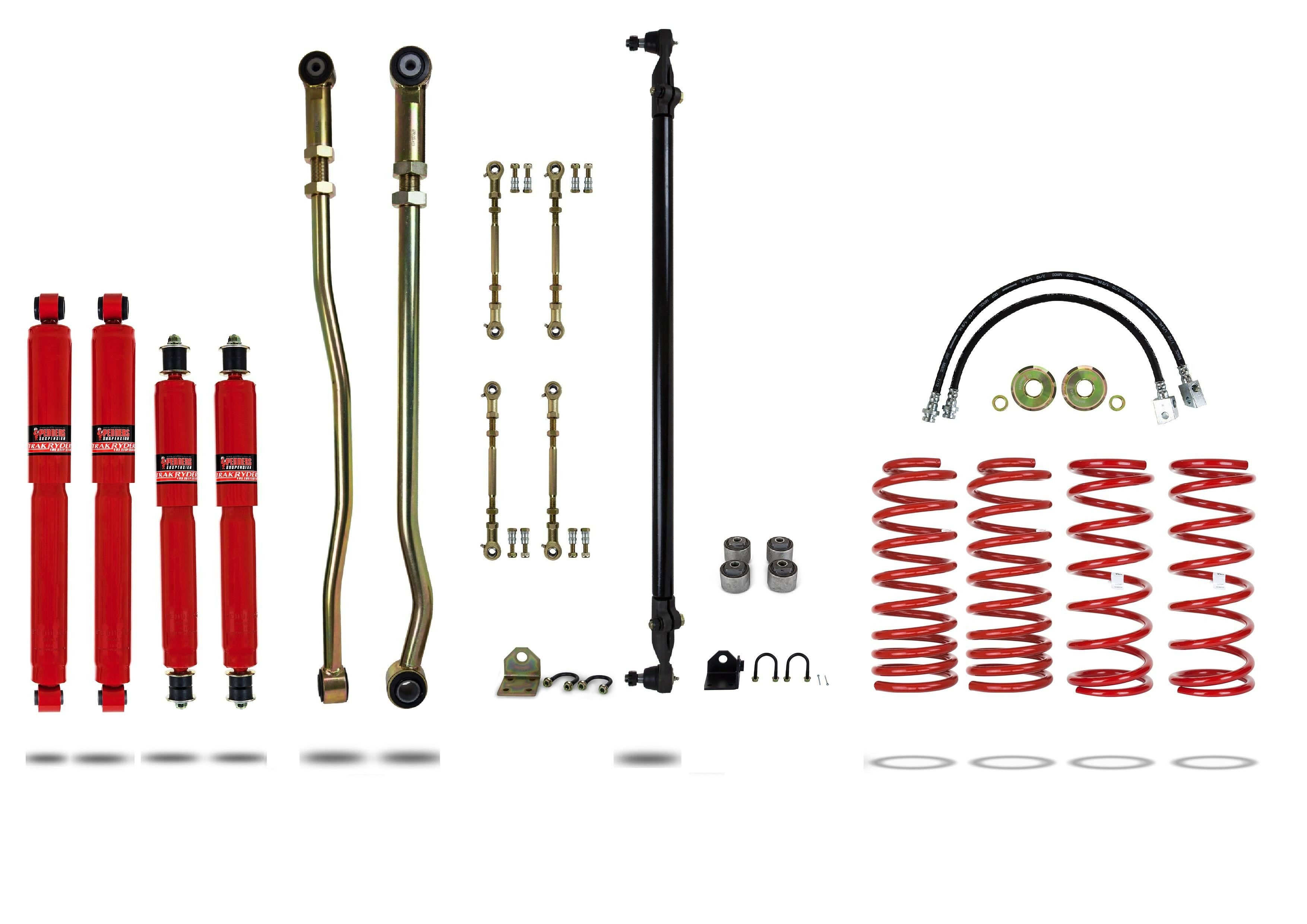 """Pedders 4"""" Lift Kit Y61 Coil F&R ABS (Excl ZD30) to 02/2000 919127-1"""