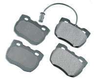 Premium Low Dust Brake Pads (Includes Pad Wear Sensor) PEUR520