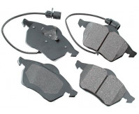 Premium Low Dust Brake Pads (Includes Pad Wear Sensor) PEUR555