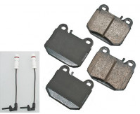 Premium Low Dust Brake Pads (Includes Pad Wear Sensor) PEUR874